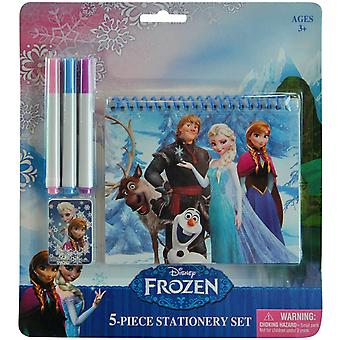 5 Piece Stationary Set | Dry Wipe Board, Pad & Pens | DISNEY FROZEN | Officially Licensed
