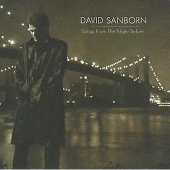 David Sanborn - sange fra the natten før [CD] USA import