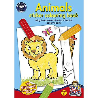 Orchard Animals Sticker Colouring Book