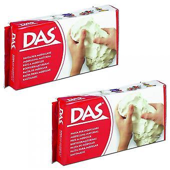 DAS Modelling Air Dry Modelling Clay White 2000g/2KG Bundle