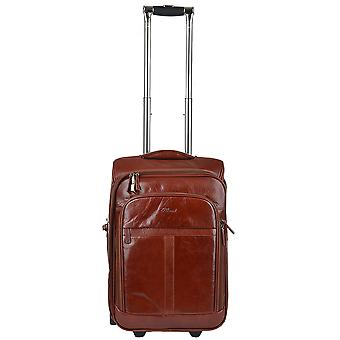 Ashwood Veg Tanned Leather Luggage Cabin Trolley  Cognac/vt : 89150
