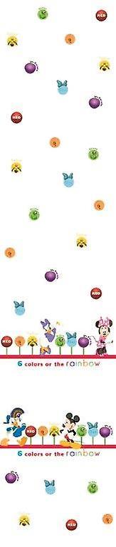 Guardería Disney Minnie y amigos cortina de Voile blanco