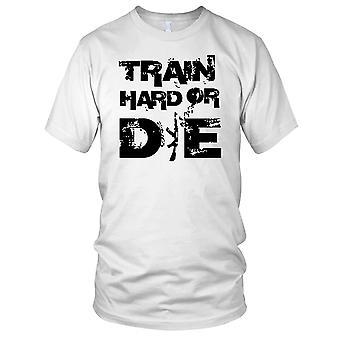 Trene hardt eller dø Fitness Gym trening Bodybuilding damer T skjorte
