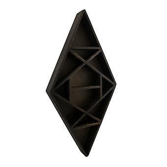 Темно коричневый деревянные геометрические алмаз формы жидкокристаллический дисплей полки