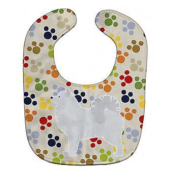 Carolines Treasures  BB6364BIB Samoyed Pawprints Baby Bib