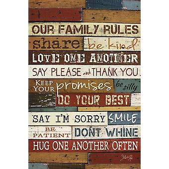 Our Family Rules I Poster Print by Marla Rae (12 x 18)