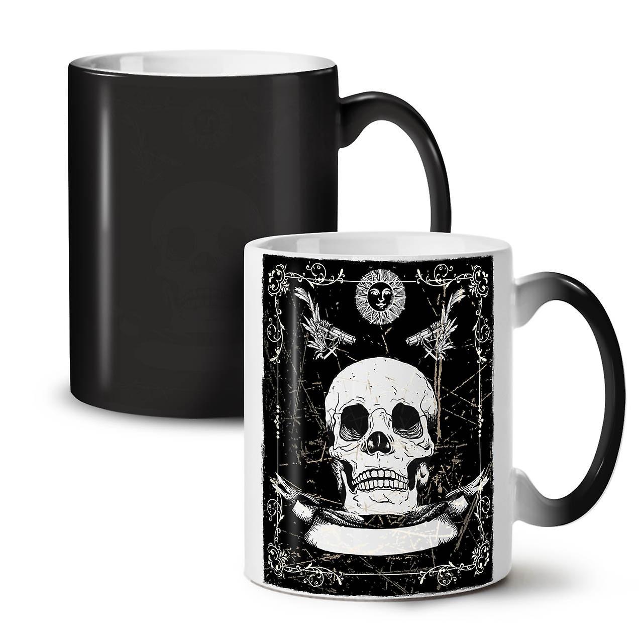 Thé Tasse Céramique OzWellcoda Canons Squelette Couleur Changeant 11 Noir Nouvelle Mort Café qMpzUSV