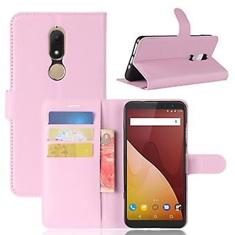 Pocket wallet premium Pink for WIKO view Prime protection sleeve case cover pouch new