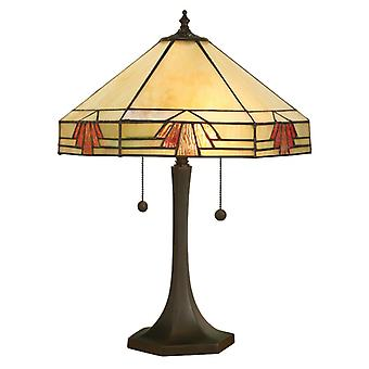 Nevada Medium Tiffany Style bordslampa - interiör 1900 64286