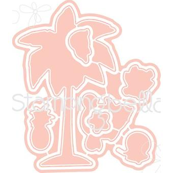 Stamping Bella The Littles Cut It Out Dies-Palm Tree CIO508