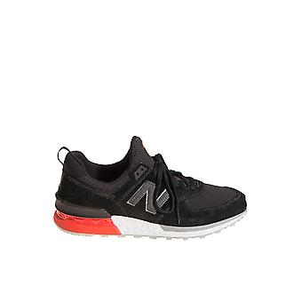 New balance men's NBMS574ABD12 black leather of sneakers