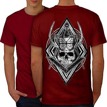 Evil Dead Skull Head Men RedT-shirt Back | Wellcoda