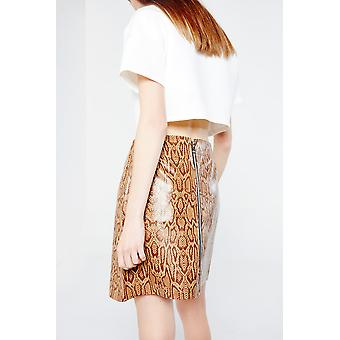 Hit The Road Jacques Snake Skin Print Mini Skirt