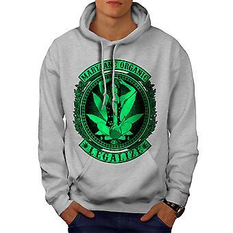 Organic Legalize Men GreyHoodie | Wellcoda