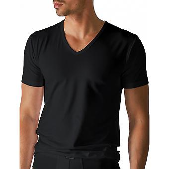 Mey 46007-123 Men's Dry Cotton Black Solid Colour Short Sleeve Top