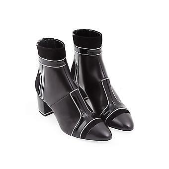Pierre Hardy heeled ankle boots in black lambskin