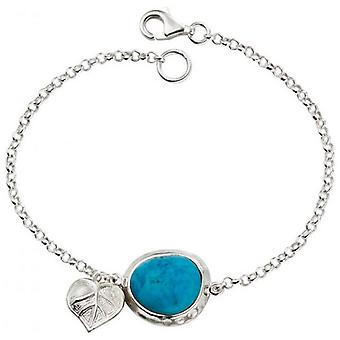 Beginnings Turquoise Howlite Leaf Bracelet - Turquoise/Silver