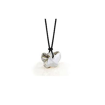 Necklace white of Swarovski Elements Crystal Butterfly