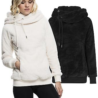 Urban classics ladies - fluffy cuddly TEDDY high neck Hoody