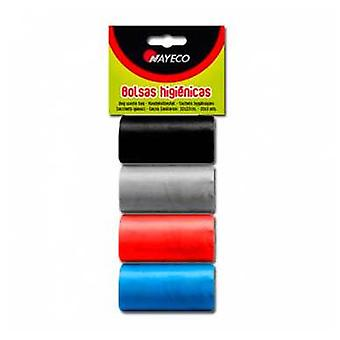 Nayeco Hygienic bags 4 rolls Assorted Colors