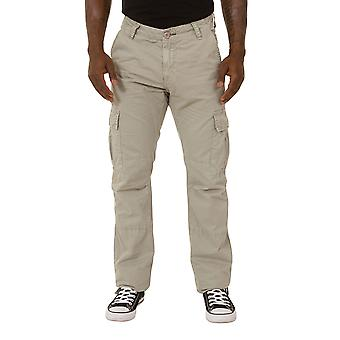 Men's Cargo Trousers - Gray Cargo pockets Drawstring at ankle