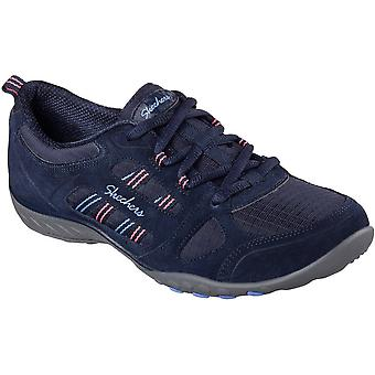 Skechers Womens/Ladies Breathe Easy - Good Luck Sporty Suede Sneakers