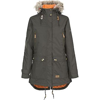 Trespass Womens/Ladies Clea Waterproof Faux Fur Trim Parka Jacket