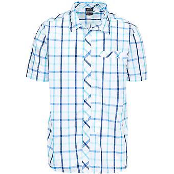 Trespass Mens Arviat vävd 100% Polyester bröst ficka knappen skjorta