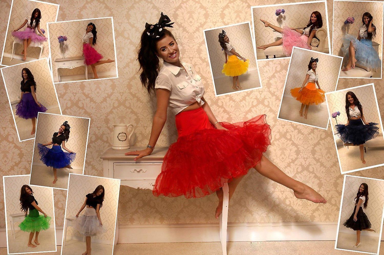 146574853e95 50  s underkjole Underskirt Retro Vintage Swing 1950 s Rockabilly hvid