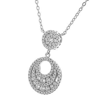 Orphelia sølv 925 kæde med vedhæng Zirconium ZH-7279