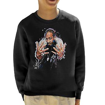 Sidney Maurer Original Portrait Of Ludacris Kid's Sweatshirt