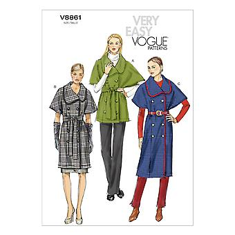 Vogue Misses' Jacket And Belt-LRG-XLG-XXL -*SEWING PATTERN*