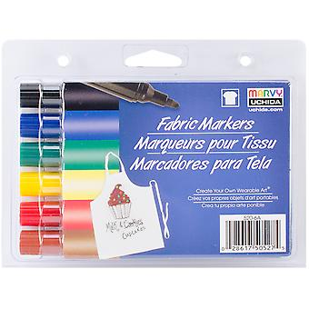 Fabric Markers Broad Tip 6/Pkg-Primary