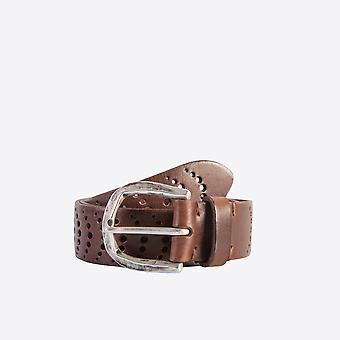 Fabio Giovanni Soleto Belt - Punched Leather Belt - High Quality Italian Belt
