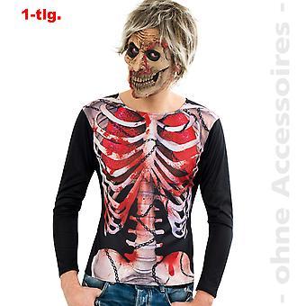 Signore di costume zombie camicia di non morti Halloween Damenkostümm