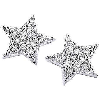 Cavendish French Cute Star Earrings - Silver