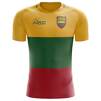 2018-2019 Lithuania Home Concept Football Shirt - Kids (Long Sleeve)