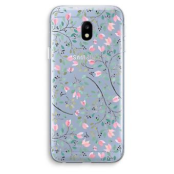 Samsung Galaxy J3 (2017) Transparent Case (Soft) - Dainty flowers