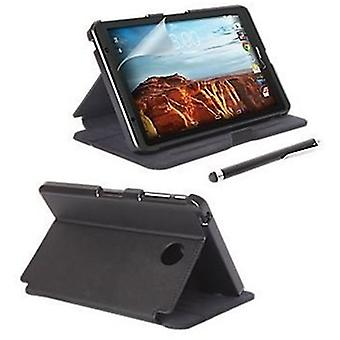 Verizon Folio Case, Screen protector and Stylus bundle for Ellipsis 8, Ellipsis