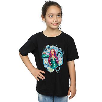DC Comics ragazze Aquaman Mera geometrica t-shirt