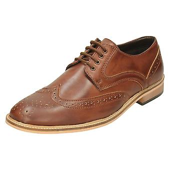 Mens Lambretta Formal Shoes 21004 - Tan Synthetic - UK Size 10 - EU Size 44 - US Size 11