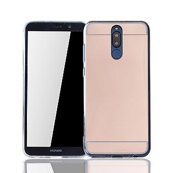 Huawei s'accoupler 10 Lite affaire miroir miroir doux cas protection couverture rose or