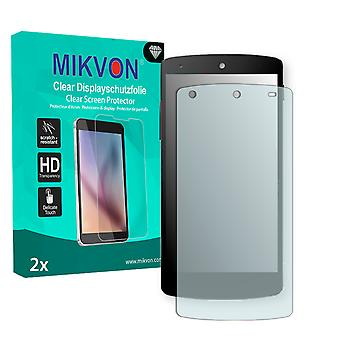 LG Google Nexus 5 Screen Protector - Mikvon Clear (Retail Package with accessories)