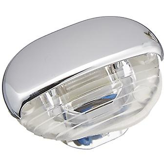 HELLA 998560041 '8560 Series' Easy Fit Multivolt Blue 12-24V DC LED Step Light with Clear Lens and Chrome Plated Plastic