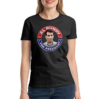 Married With Children Bundy President Women's Black T-shirt