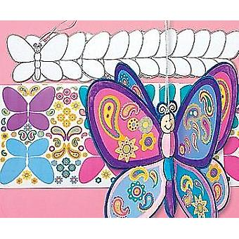 12 Decorate A Butterfly Kids Sticker Craft Kits | Kids Insect & Bug Crafts