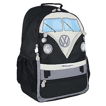 Official VW T1 Camper Van Large Rucksack Backpack Bag - Black