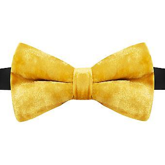 Luxury Gold Crushed Velvet Bow Tie