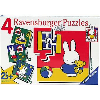 Ravensburger Puzzle Miffy 6 + 9 + 12 + 16 biter