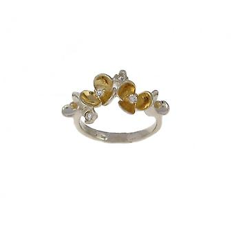 Cavendish French Silver and gold vermeil flower cluster ring
